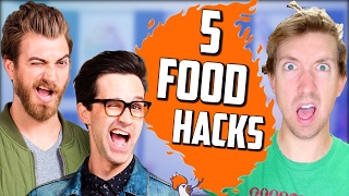 Rhett and Link of Good Mythical Morning 🍔 5 Fast Food Hacks Taste Test
