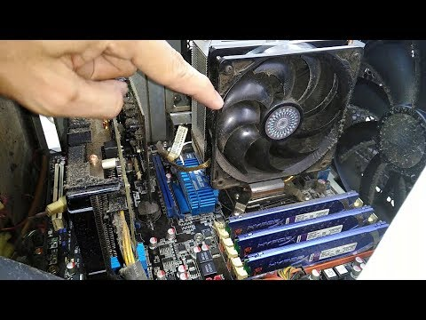 Satisfying to watch very Dirty Computers Vacuum Thick Dust inside Gaming RIG 2018