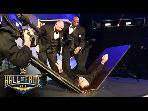 The Dudley Boyz put a stagehand through a table: WWE Hall of Fame 2018 (WWE Network Exclusive) thumbnail