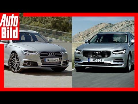 Volvo V90 vs Audi A6 Avant - Review/ Test/ Fahrbericht/ Sound