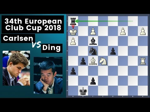 Ding is Unbeatable - Carlsen vs Ding | European Chess Club Cup 2018 Rd 6