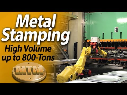 Metal Stamping in production volumes up to 800 tons - Manitowoc Tool & Manufacturing