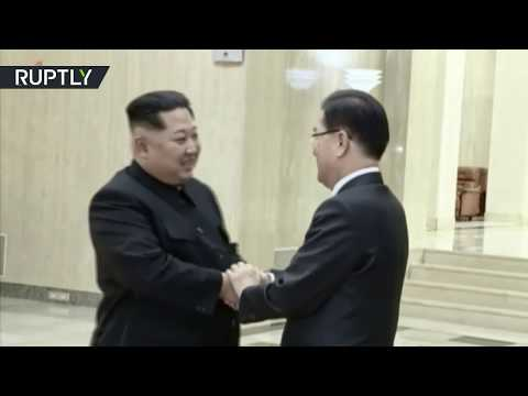 Kim Jong-un welcomes South Korea delegation in Pyongyang