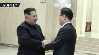 Download Video Kim Jong-un welcomes South Korea delegation in Pyongyang MP3 3GP MP4