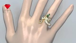 Bije.ru: Позолоченное кольцо в виде ящерицы с кристаллами Swarovski Ilelia (Илелья)(, 2015-02-16T12:49:19.000Z)