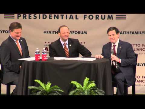 Alan Wilson Moderates CLP Faith and Family Presidential Forum: Sen. Marco Rubio - Feb. 12, 2016