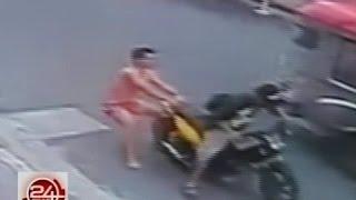 24Oras: Exclusive: Pagnanakaw ng motorsiklo, na-huli cam