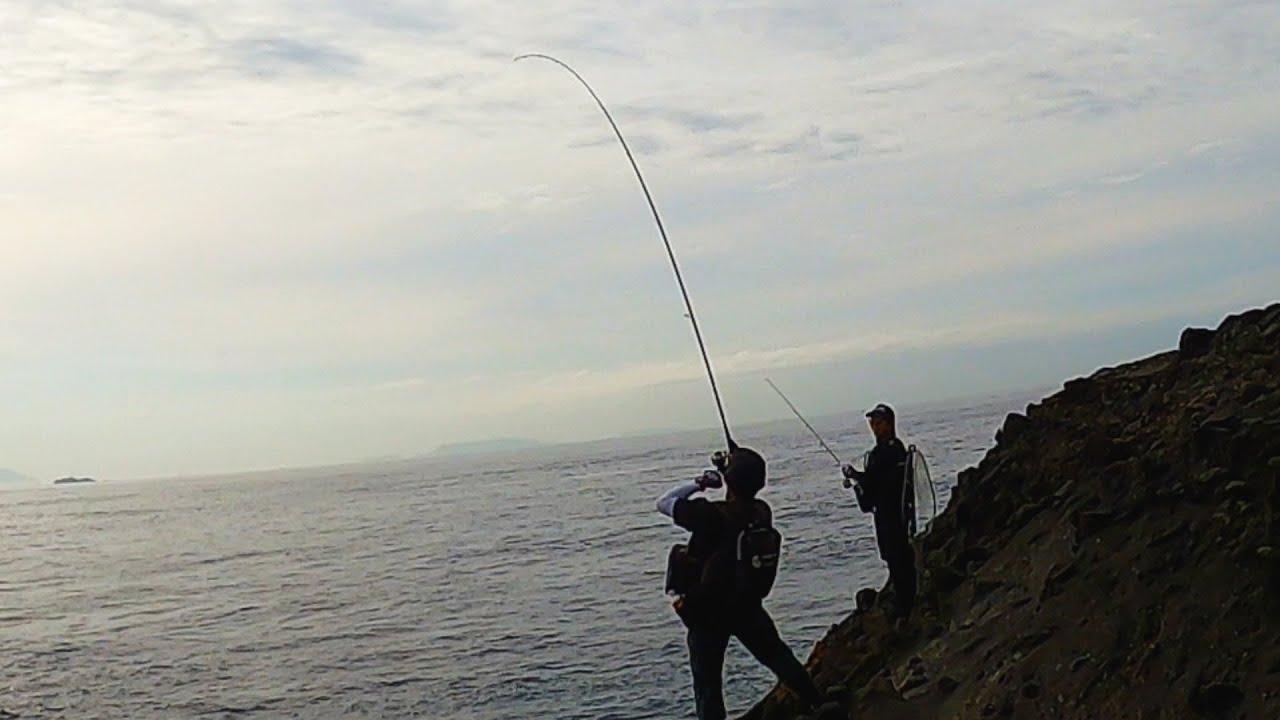 ロックショアで釣りユーチューバーコラボ!!