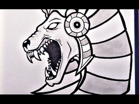 736d39dcf How To Draw ANUBIS - YouTube