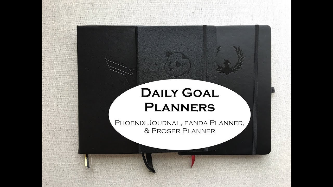 daily goal planners youtube