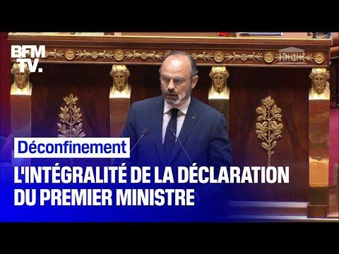 Déconfinement: revoir en intégralité la déclaration d'Edouard Philippe à l'Assemblée