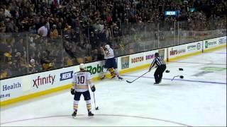 John Scott vs Shawn Thornton fight 31 Jan 2013 Buffalo Sabres vs Boston Bruins NHL Hockey