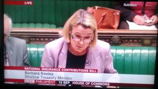 Barbara Keeley telling Tories off for laughing