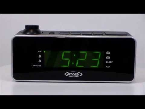 jensen jcr 235 digital dual alarm projection clock radio youtube. Black Bedroom Furniture Sets. Home Design Ideas