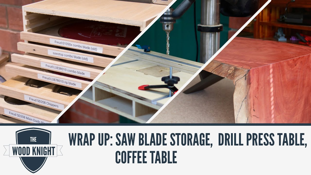 Wrap Up Saw blade storage Drill press table Redgum Coffee Table