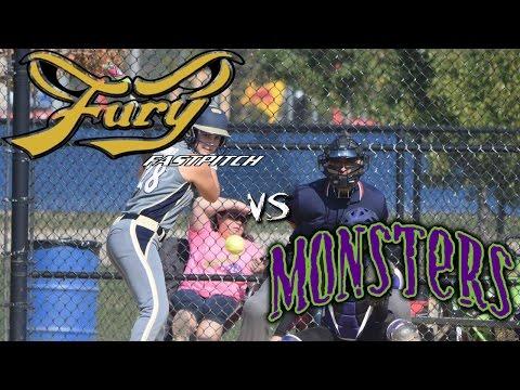 Fury Fastpitch Vegas 02 vs Green Monsters 14u fastpitch softball game