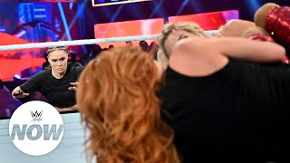 Ronda Rousey causes DQ in Becky-Charlotte showdown: WWE Now