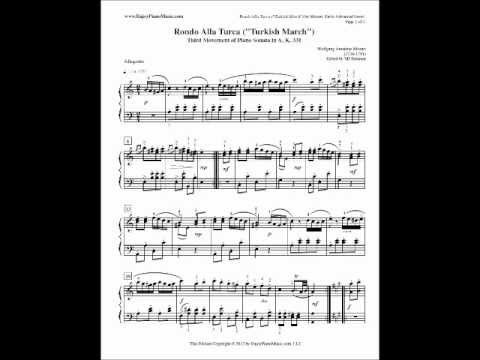 Rondo Alla Turca Free Piano Sheet Music and Free MP3 Download