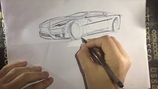 Quick Automotive Sketch - Interior/Exterior