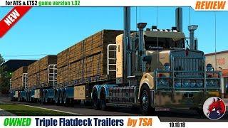 "[""American Truck Simulator"", ""Euro Truck Simulator 2"", ""mod"", ""owned trailer mod"", ""Triple Flatdeck Trailers"", ""by TSA""]"