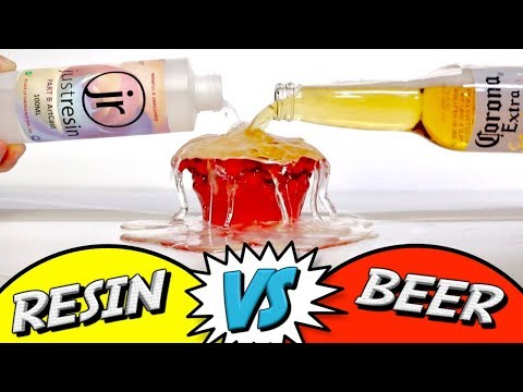 Resin Vs Beer - Suspending liquid in epoxy resin