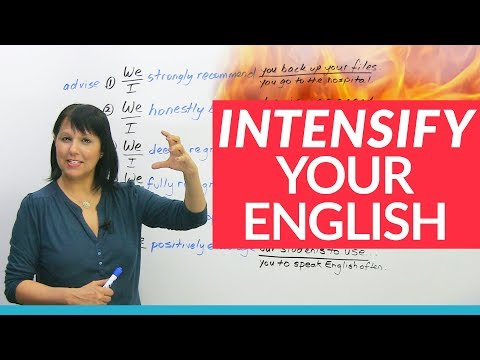 Advance your English with 7 INTENSIFIERS