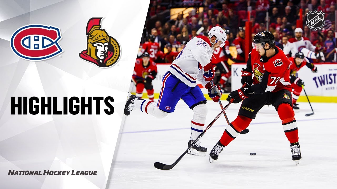 NHL Highlights | Canadiens @ Senators 1/11/20