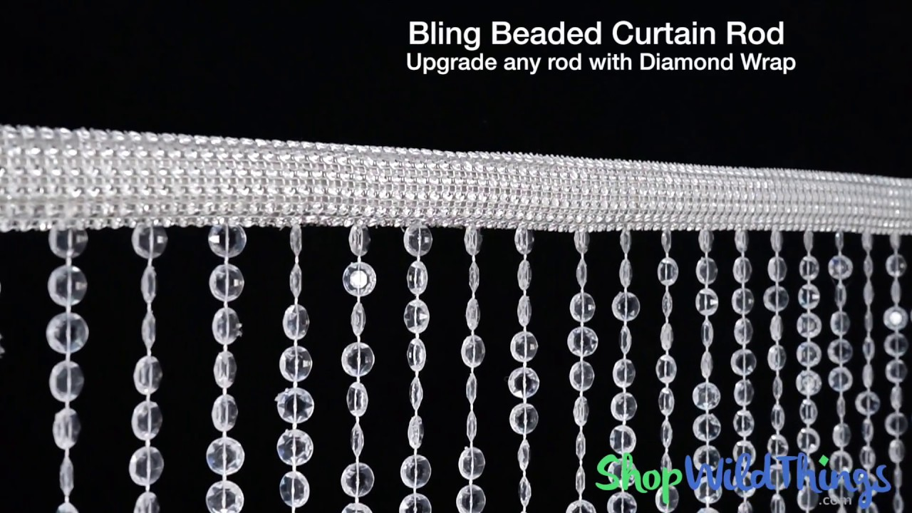 bling beaded curtain rod shopwildthings