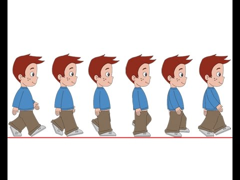 Flash Animation Tutorial Character Walk Cycle Part1 YouTube