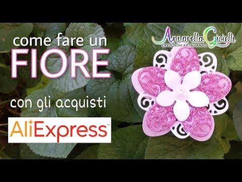 Fare un fiore con le fustelle di Aliexpress 🌻 How to make a flower with Aliexpress cut die