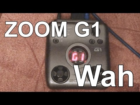 Zoom G1 Wah Patch