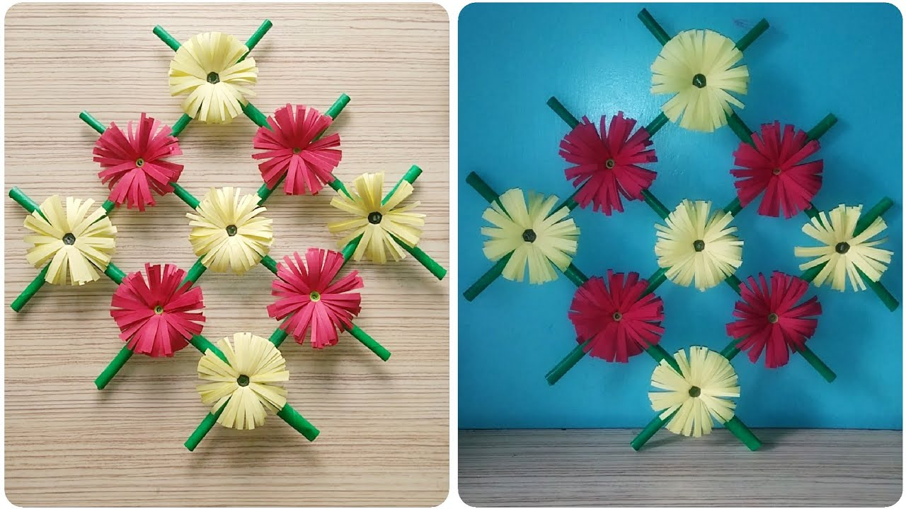 Diy Wall Flowers: Paper Flower Wall Hanging