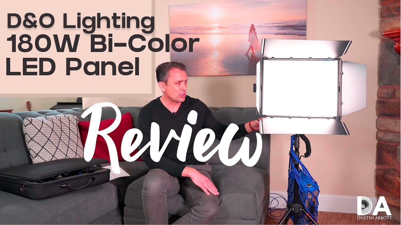 d o lighting 180w pro bi color led panel review 4k