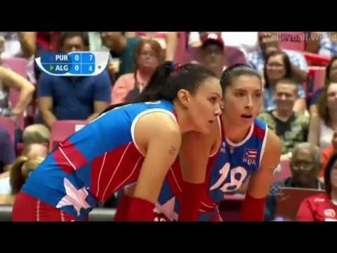 Puerto Rico vs Algeria   2016 Volleyball Womens World Olympic Qualification Full