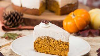 Pumpkin Bread-Bottom Cheesecake