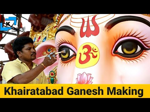 Khairatabad Ganesh 2019 | Making of Khairatabad Ganesh | 61 Feet India's Biggest Ganesh Making