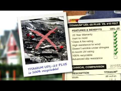 TITANIUM UDL 25 PLUS #1 Selling Synthetic Roofing Underlayments   YouTube