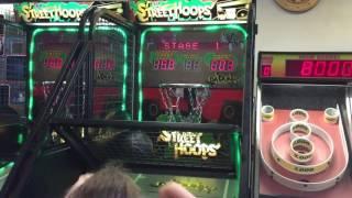 Street Hoops Basketball Shoot Baskets Video Arcade Game ~ Chuck E Cheese
