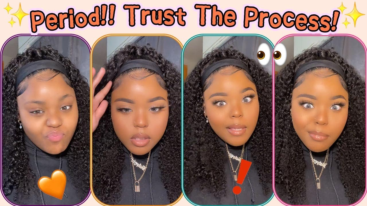 Always Trust Her!! 🦄No Lace Headband Wig Install Without Glue~ Done It Easily #Elfinhair