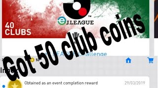 Play j- league match earn 50 club coins
