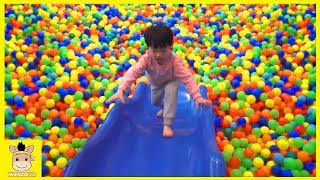 Indoor Playground Fun for Kids and Family Play Rainbow Slide Colors Ball | MariAndKids Toys