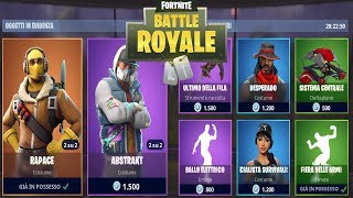 "FORTNITE ""SHOP"" 18/07 SKIN ABSTRAKT - RAPACE - PICCONE SQUEAKY - BALLO"