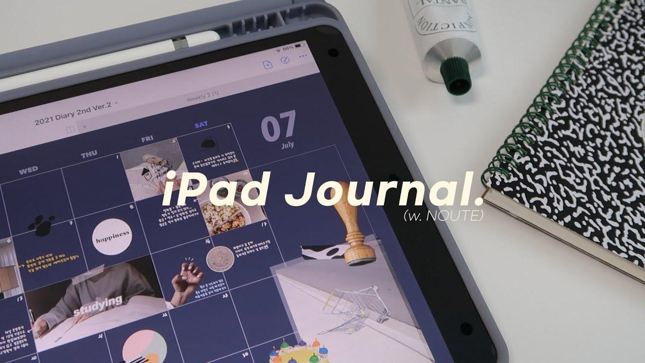 7월의 아이패드 다이어리 꾸미기📓   스티커는 쓰고 싶은데 똥손인 사람 모여바바,,,   이담X누트 20만원 나눔 이벤트   iPad Monthly Journal