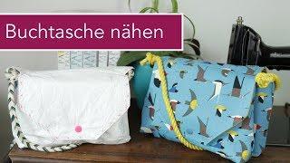 Buchtasche nähen / Handtasche mit Buchfach   Paper Buchreihe Verlosung