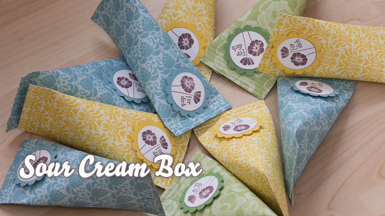 verpackung f r kleinigkeiten sour cream box youtube. Black Bedroom Furniture Sets. Home Design Ideas