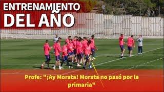 """""""Morata no pasó por la primaria"""": el mejor entrenamiento del año en el Atlético   Diario AS"""