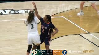 WBB v Fullerton HighlightsCal Poly v CSUF, Women