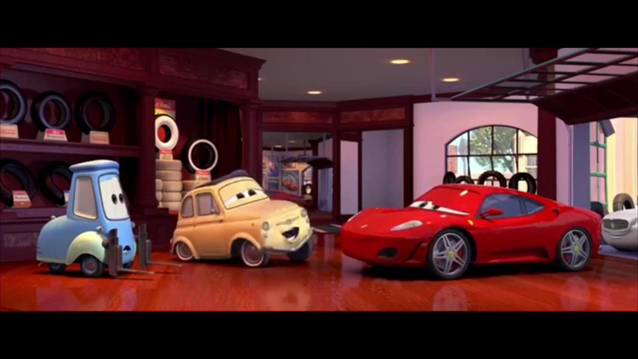 Disney Pixar Cars Michael Schumacher Ferrari Scene Hd Youtube