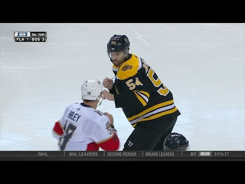Adam McQuaid fights Micheal Haley 3/31/18