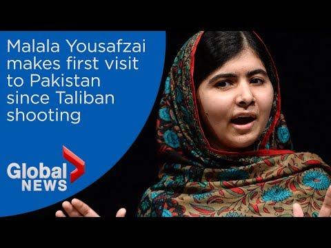 Malala Yousafzai tears up during first visit to Pakistan since Taliban shooting